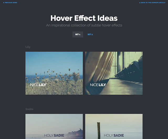 Hover Effect Ideas