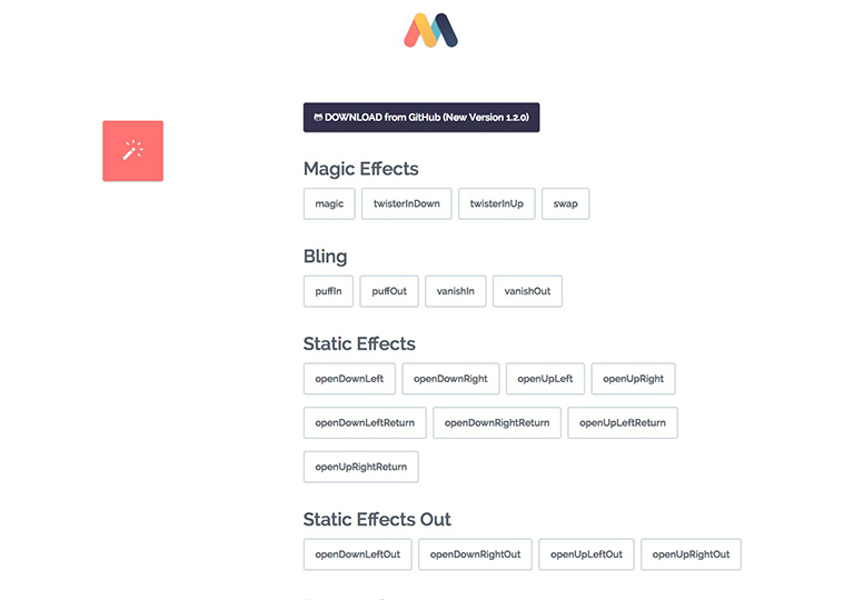 MagicCSS3Animation