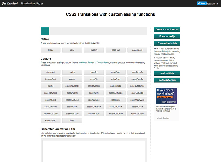 CSS3 Transitions with custom easing functions