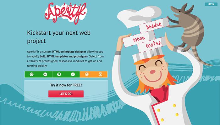 반응형 사이트 템플릿을 뚝딱! 만들어주는 사이트 – Aperitif